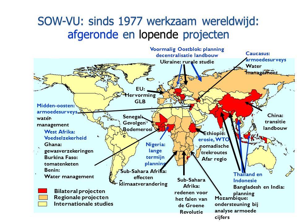SOW-VU: sinds 1977 werkzaam wereldwijd: afgeronde en lopende projecten