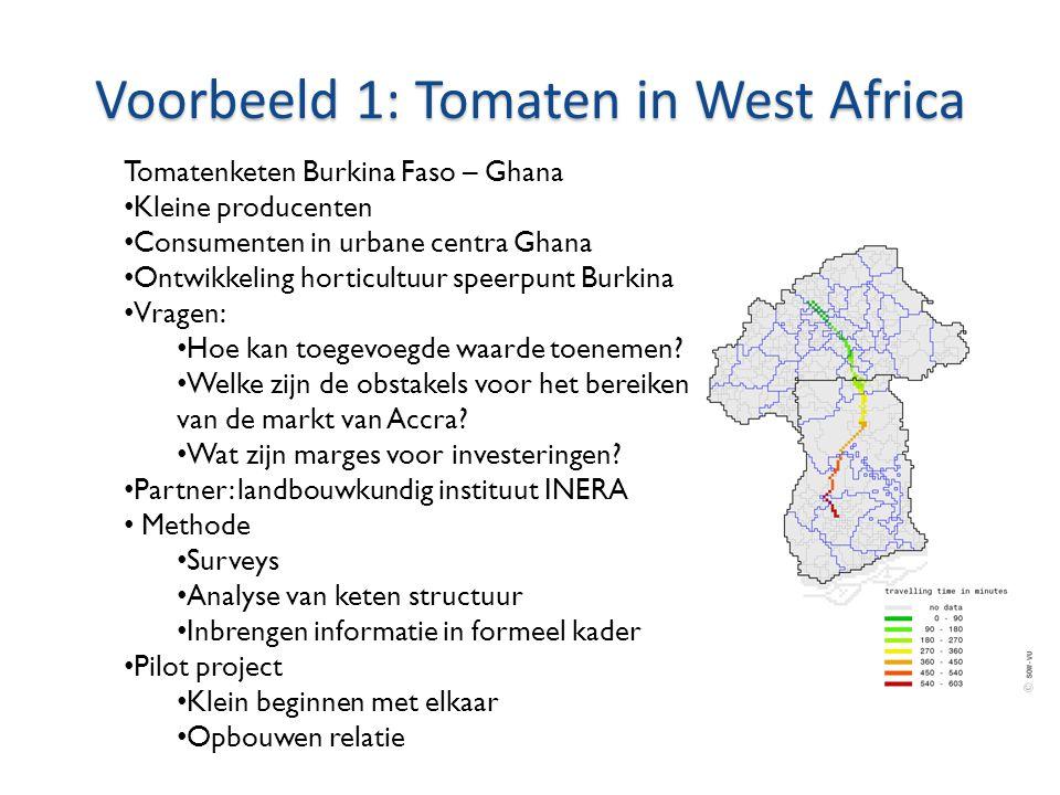 Voorbeeld 1: Tomaten in West Africa
