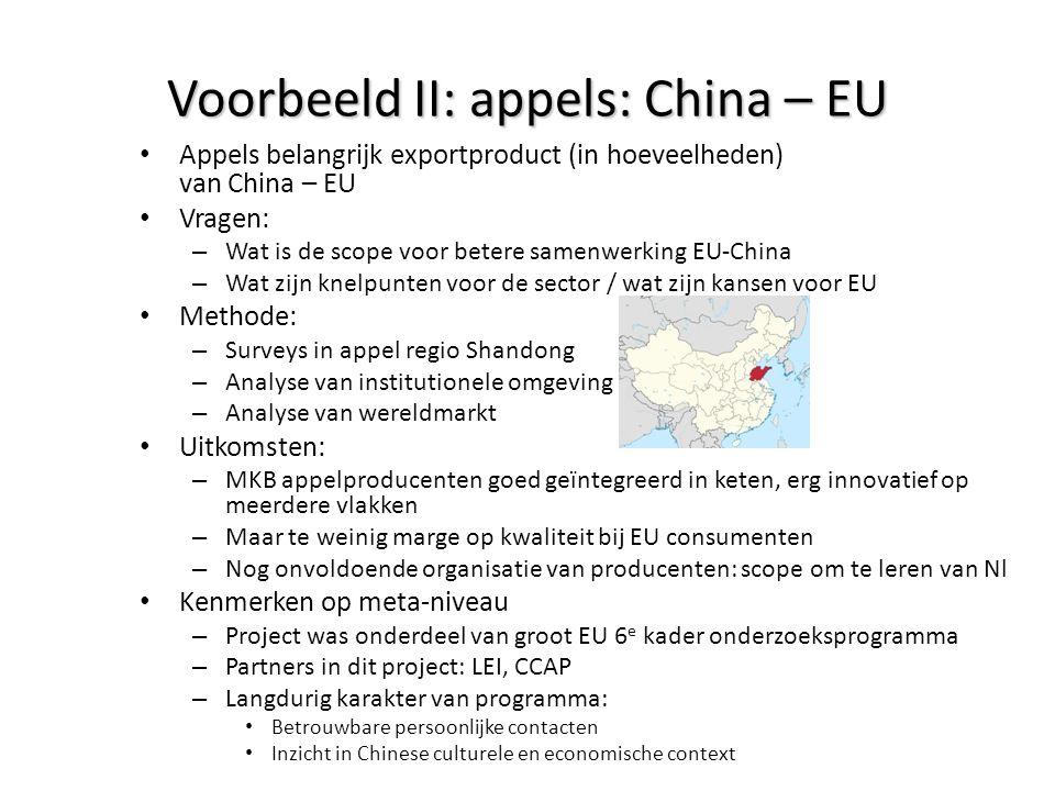 Voorbeeld II: appels: China – EU