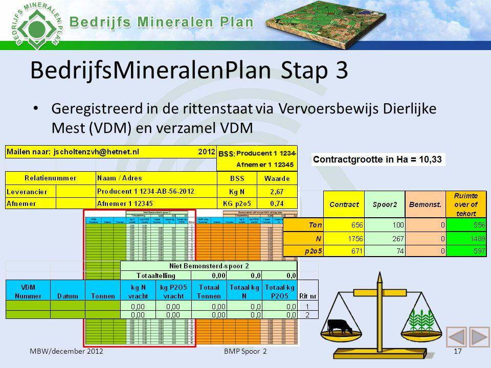 BedrijfsMineralenPlan Stap 3