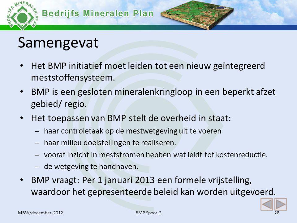 Samengevat Het BMP initiatief moet leiden tot een nieuw geïntegreerd meststoffensysteem.