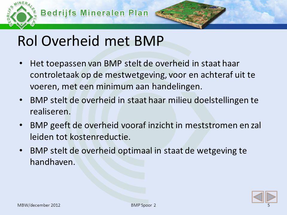 Rol Overheid met BMP