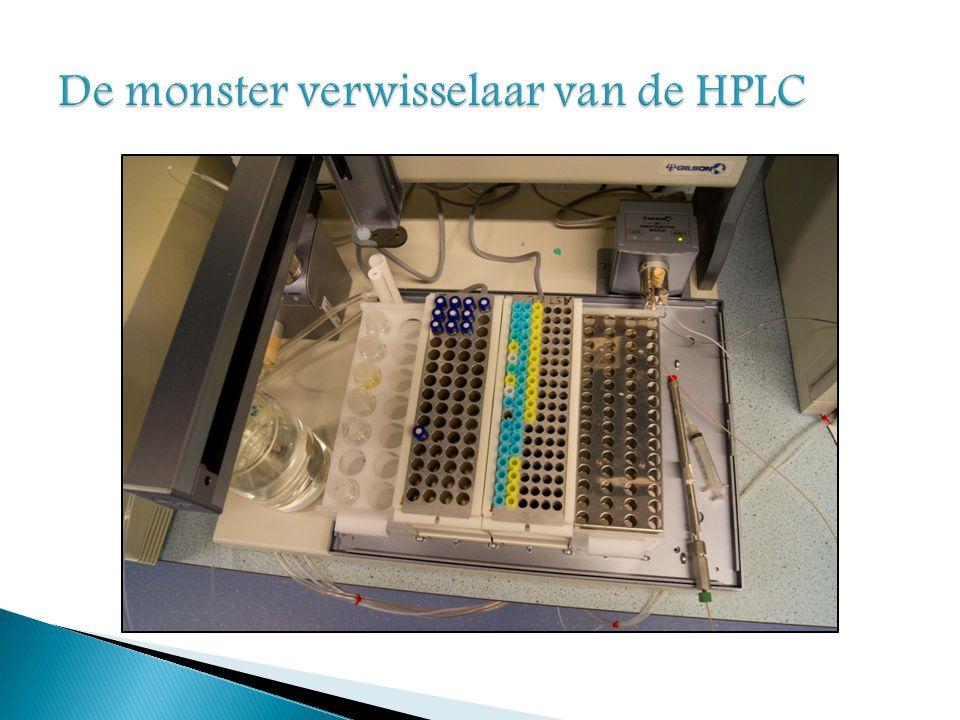 De monster verwisselaar van de HPLC