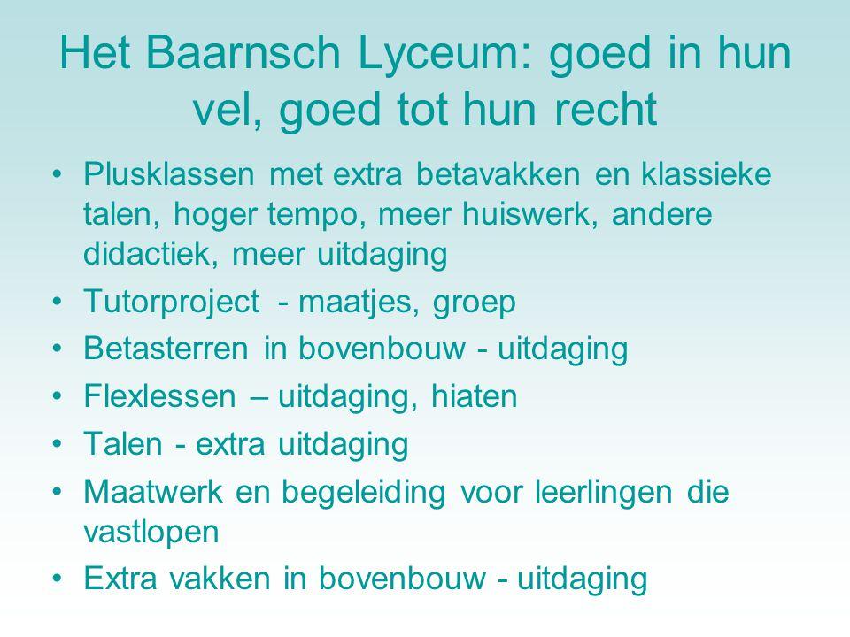 Het Baarnsch Lyceum: goed in hun vel, goed tot hun recht