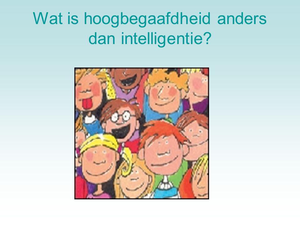 Wat is hoogbegaafdheid anders dan intelligentie