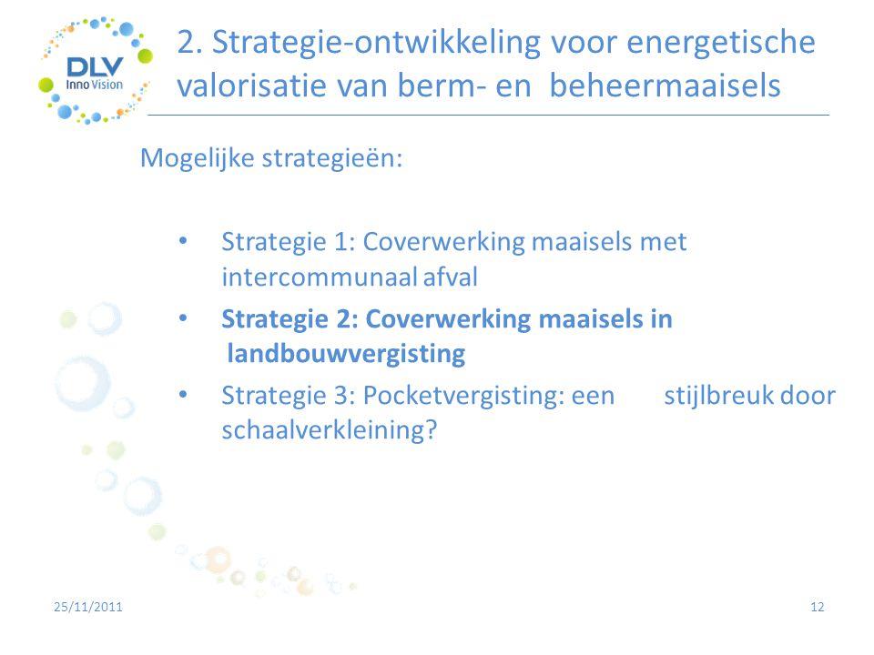 2. Strategie-ontwikkeling voor energetische valorisatie van berm- en beheermaaisels