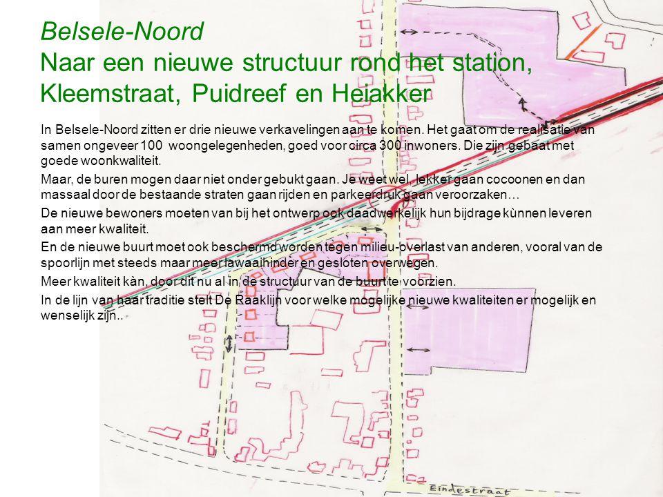 Belsele-Noord Naar een nieuwe structuur rond het station, Kleemstraat, Puidreef en Heiakker