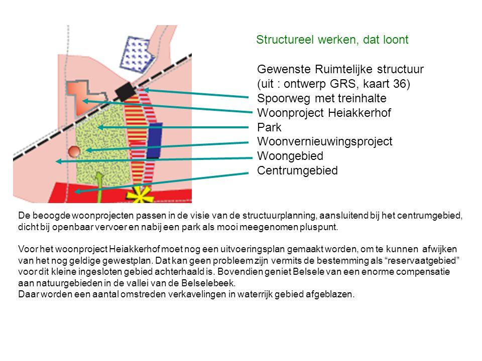 Gewenste Ruimtelijke structuur (uit : ontwerp GRS, kaart 36)