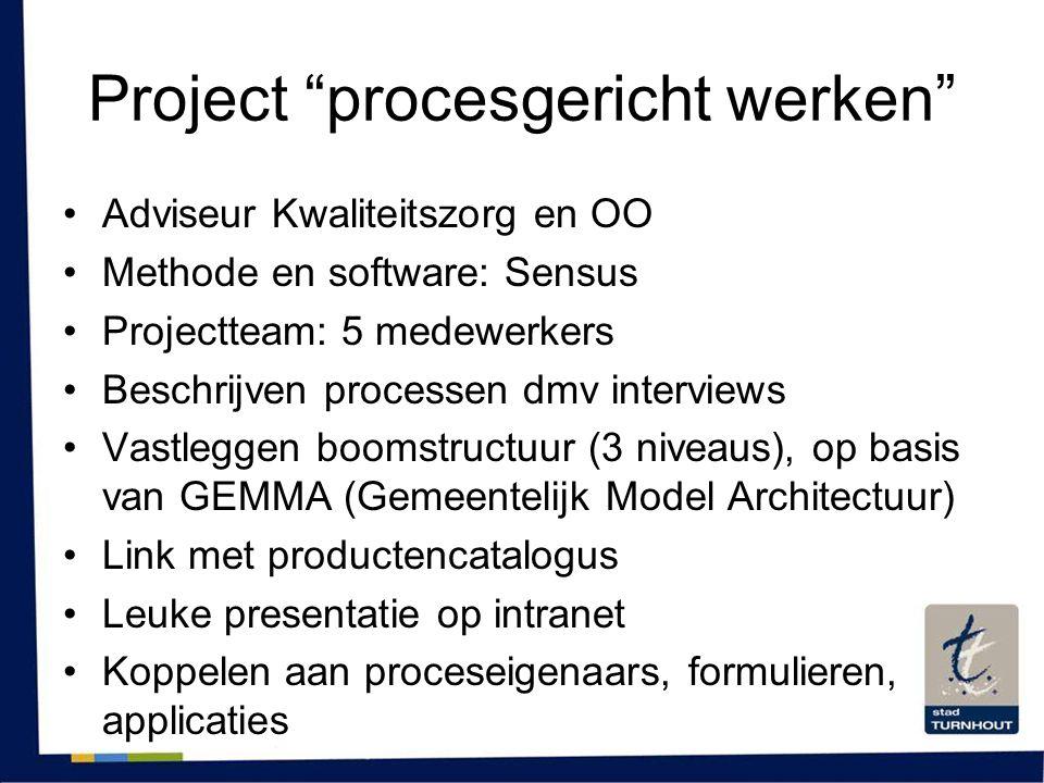 Project procesgericht werken
