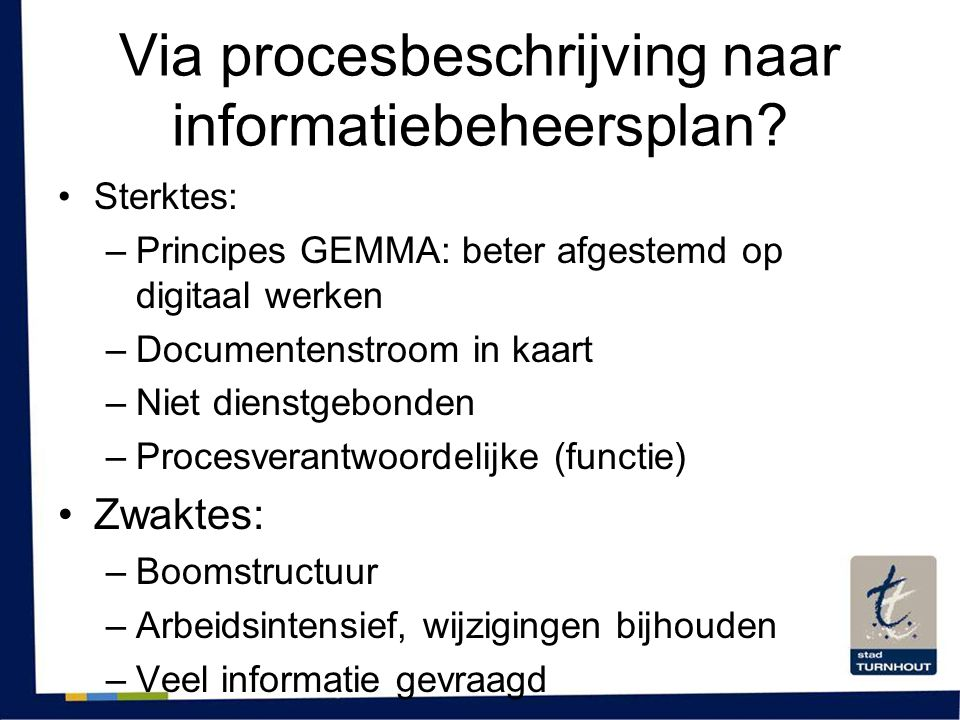 Via procesbeschrijving naar informatiebeheersplan