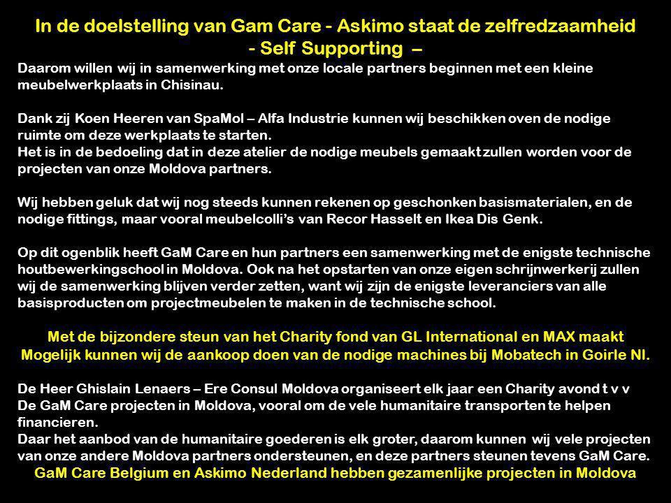 In de doelstelling van Gam Care - Askimo staat de zelfredzaamheid