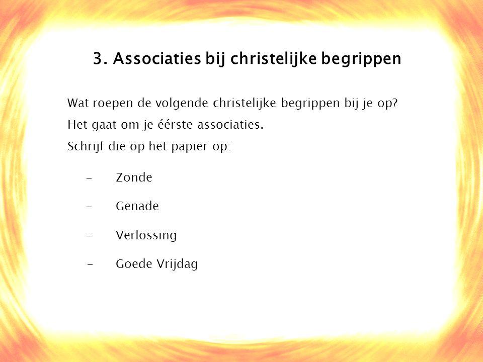 3. Associaties bij christelijke begrippen
