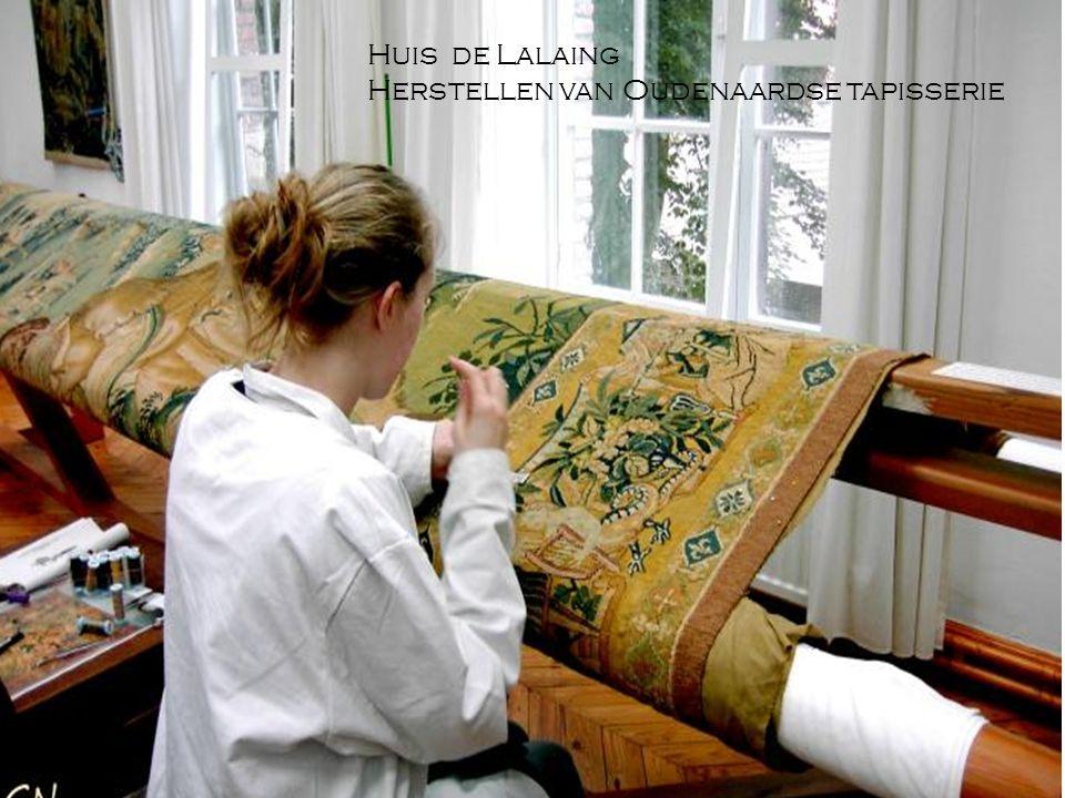 Huis de Lalaing Herstellen van Oudenaardse tapisserie