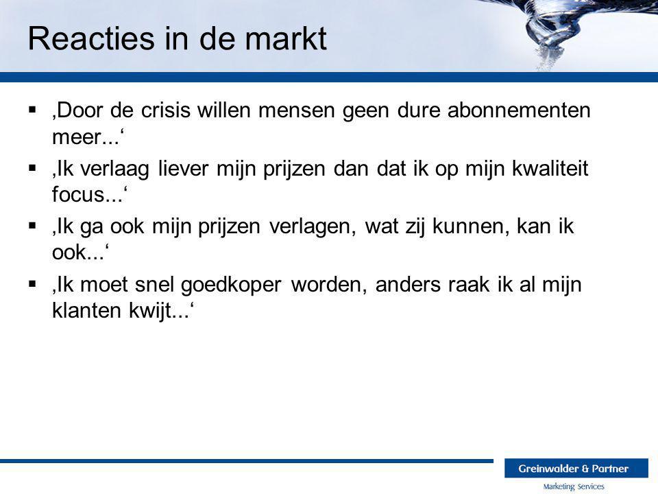 Reacties in de markt 'Door de crisis willen mensen geen dure abonnementen meer...'