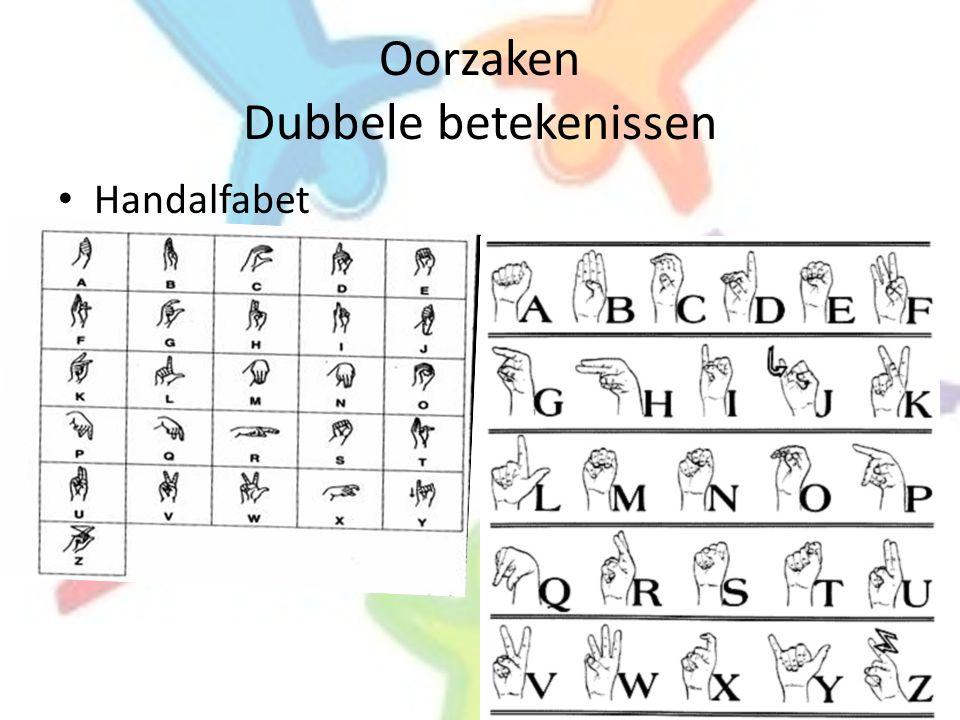 Oorzaken Dubbele betekenissen