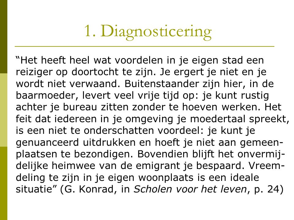 1. Diagnosticering