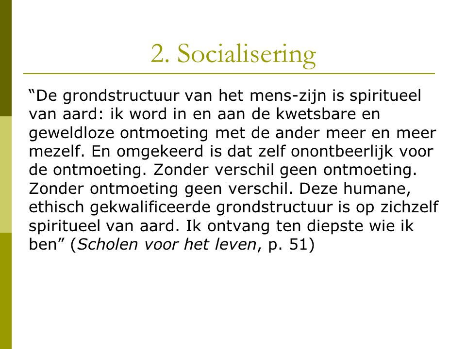 2. Socialisering