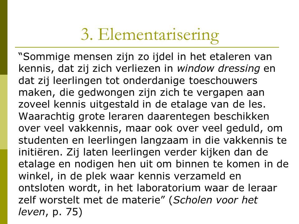 3. Elementarisering