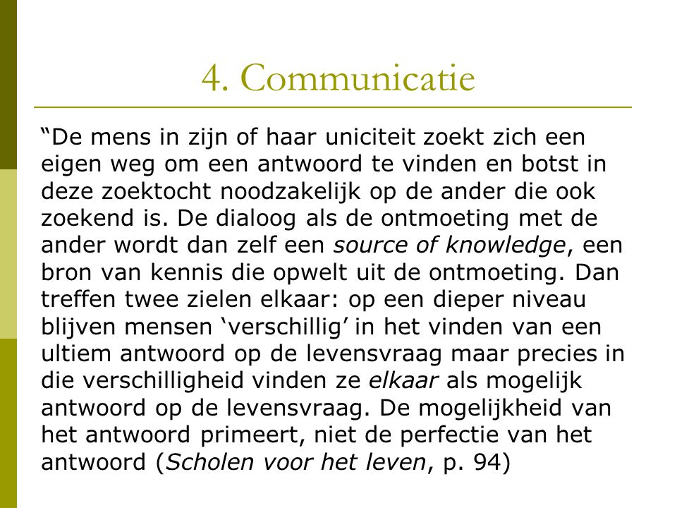 4. Communicatie