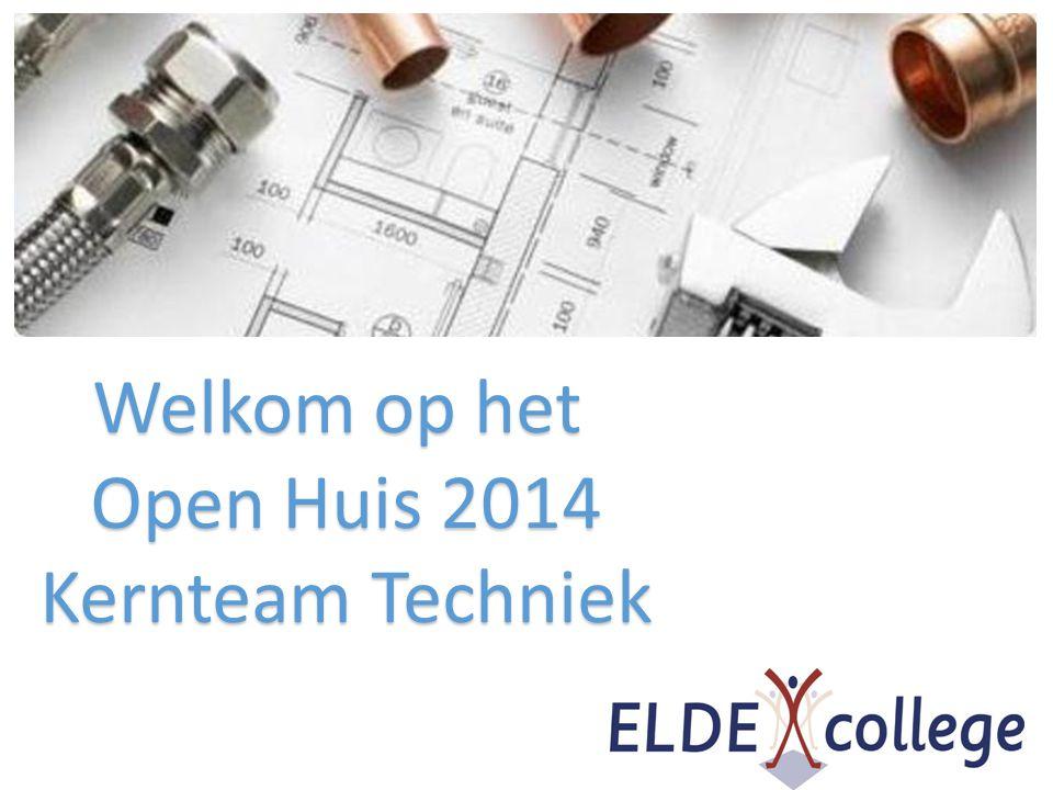 Welkom op het Open Huis 2014 Kernteam Techniek