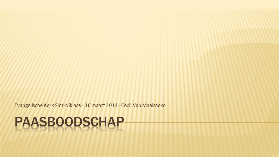 Evangelische Kerk Sint-Niklaas - 16 maart 2014 - Cécil Van Maelsaeke