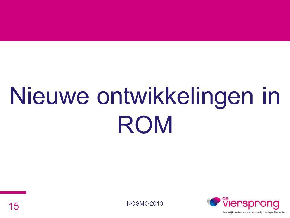 Nieuwe ontwikkelingen in ROM