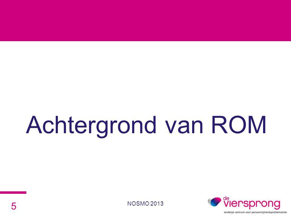 Achtergrond van ROM NOSMO 2013