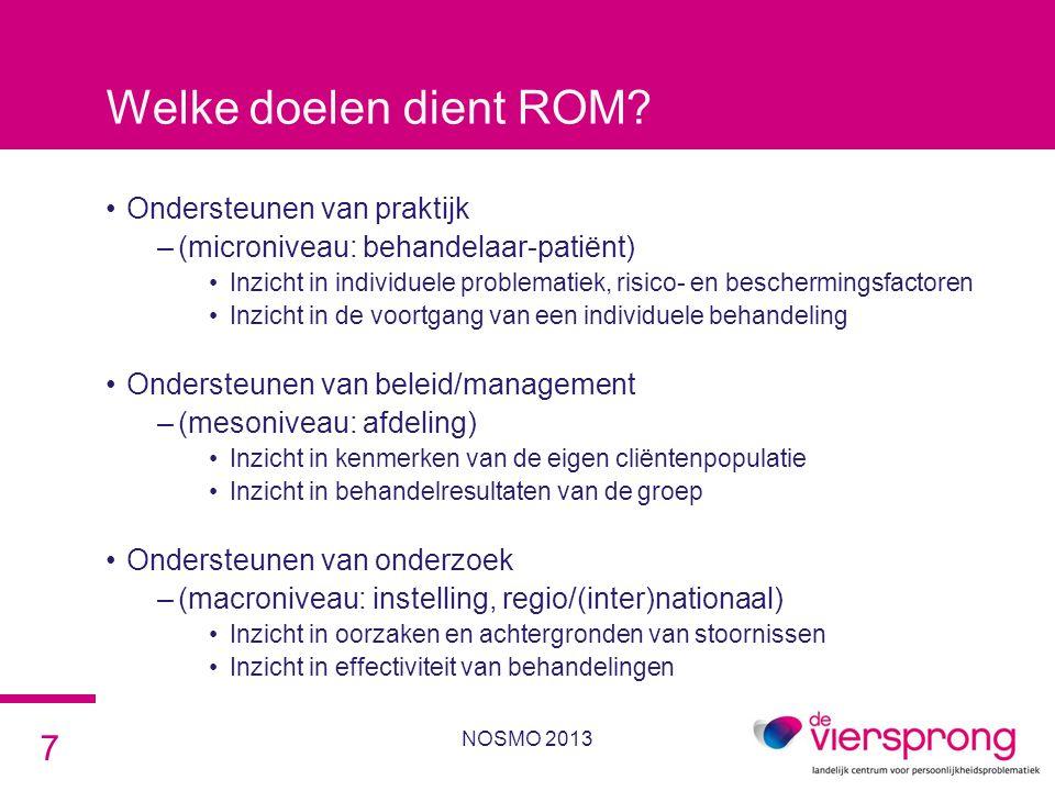Welke doelen dient ROM Ondersteunen van praktijk