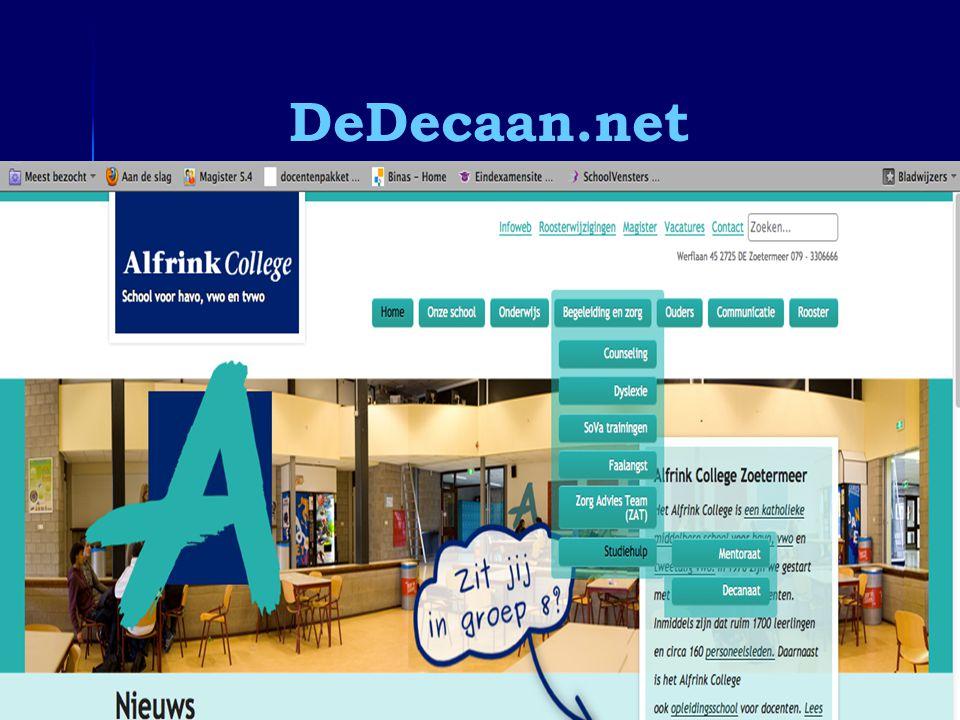 DeDecaan.net Informatieavond 5 vwo