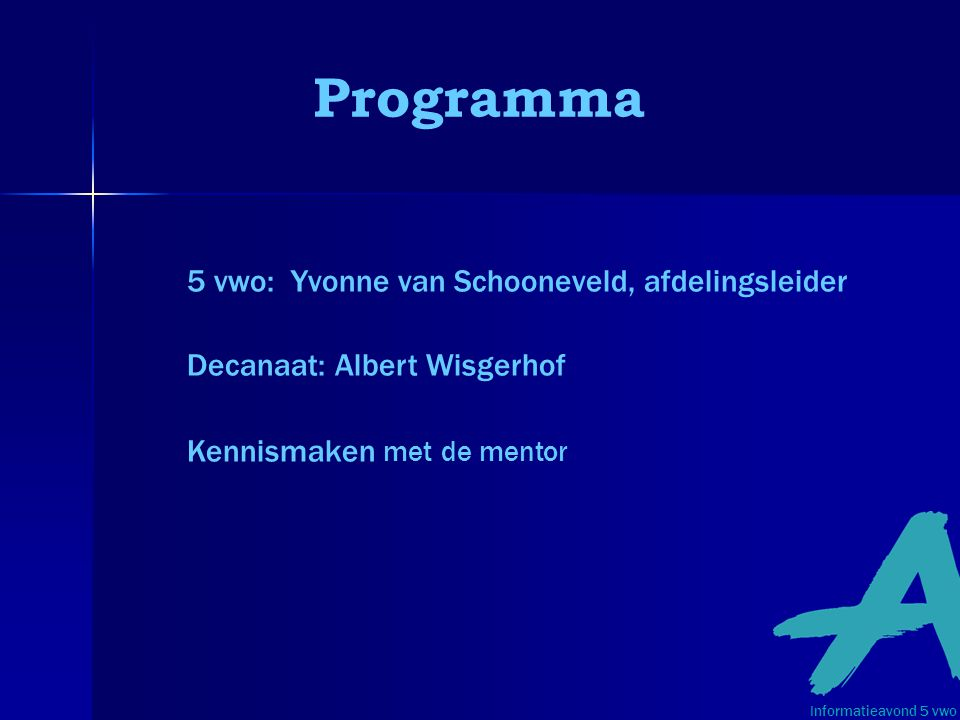 Programma 5 vwo: Yvonne van Schooneveld, afdelingsleider