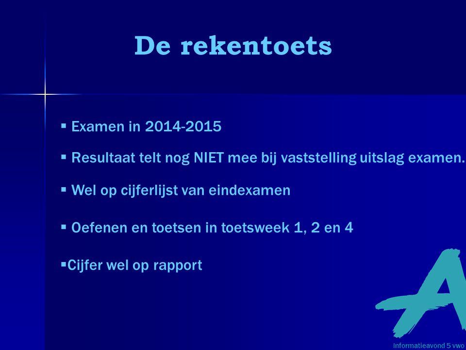 De rekentoets Examen in 2014-2015