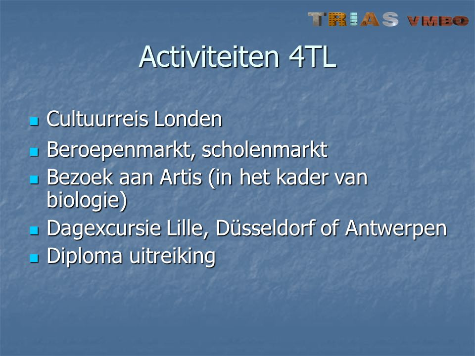 Activiteiten 4TL Cultuurreis Londen Beroepenmarkt, scholenmarkt