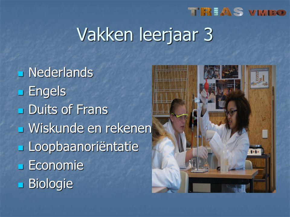 Vakken leerjaar 3 Nederlands Engels Duits of Frans Wiskunde en rekenen