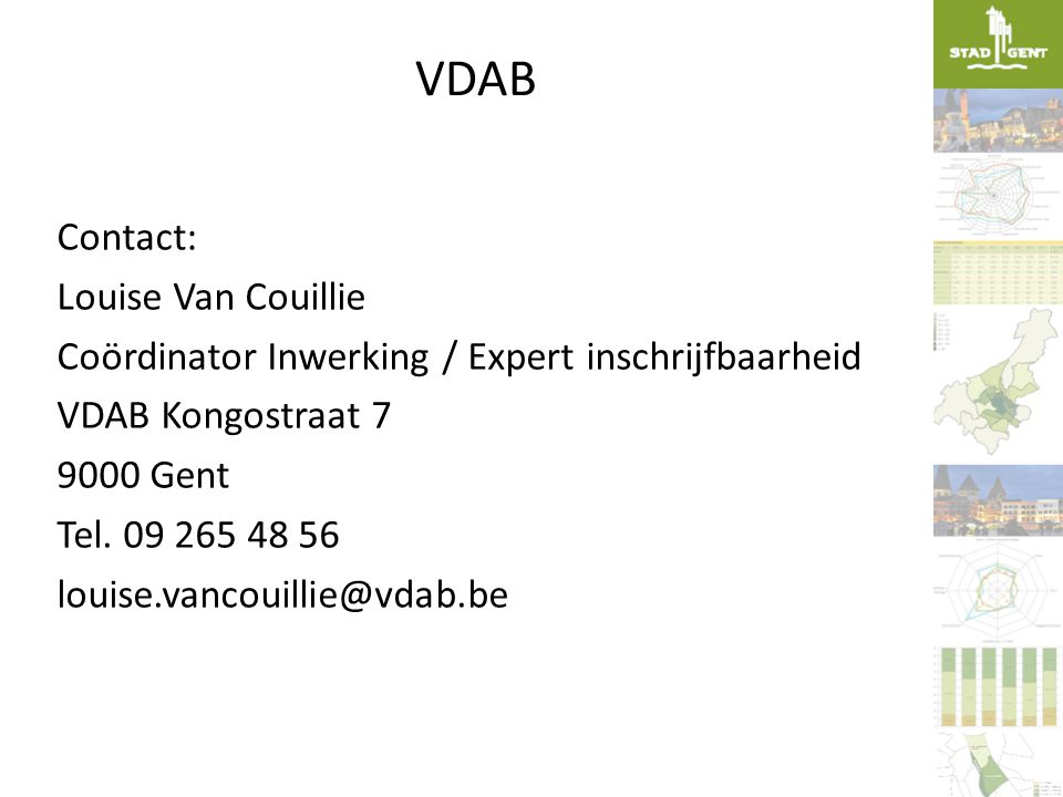 VDAB Contact: Louise Van Couillie