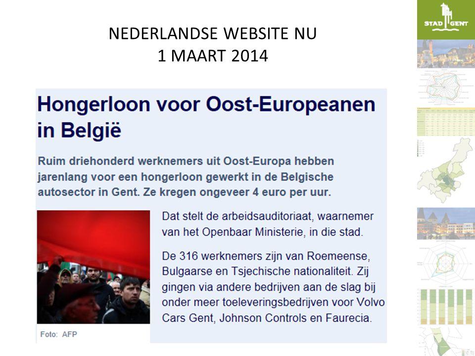 NEDERLANDSE WEBSITE NU 1 MAART 2014