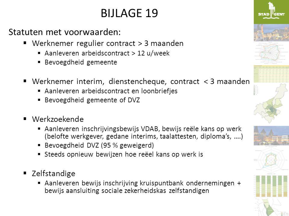BIJLAGE 19 Statuten met voorwaarden: