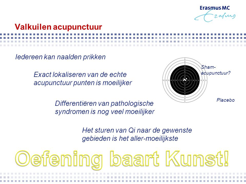 Valkuilen acupunctuur