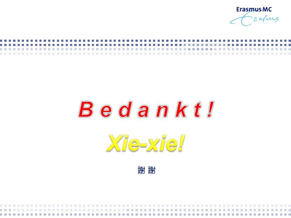 B e d a n k t ! Xie-xie! 謝 謝