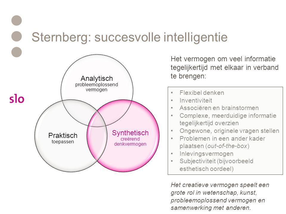 Sternberg: succesvolle intelligentie