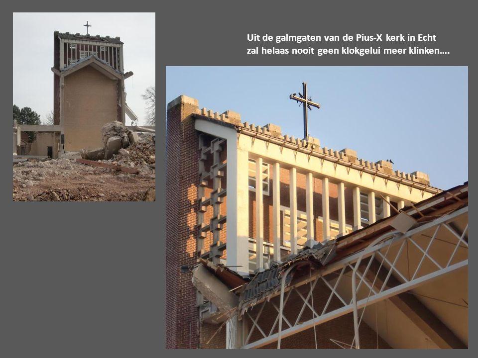 Uit de galmgaten van de Pius-X kerk in Echt