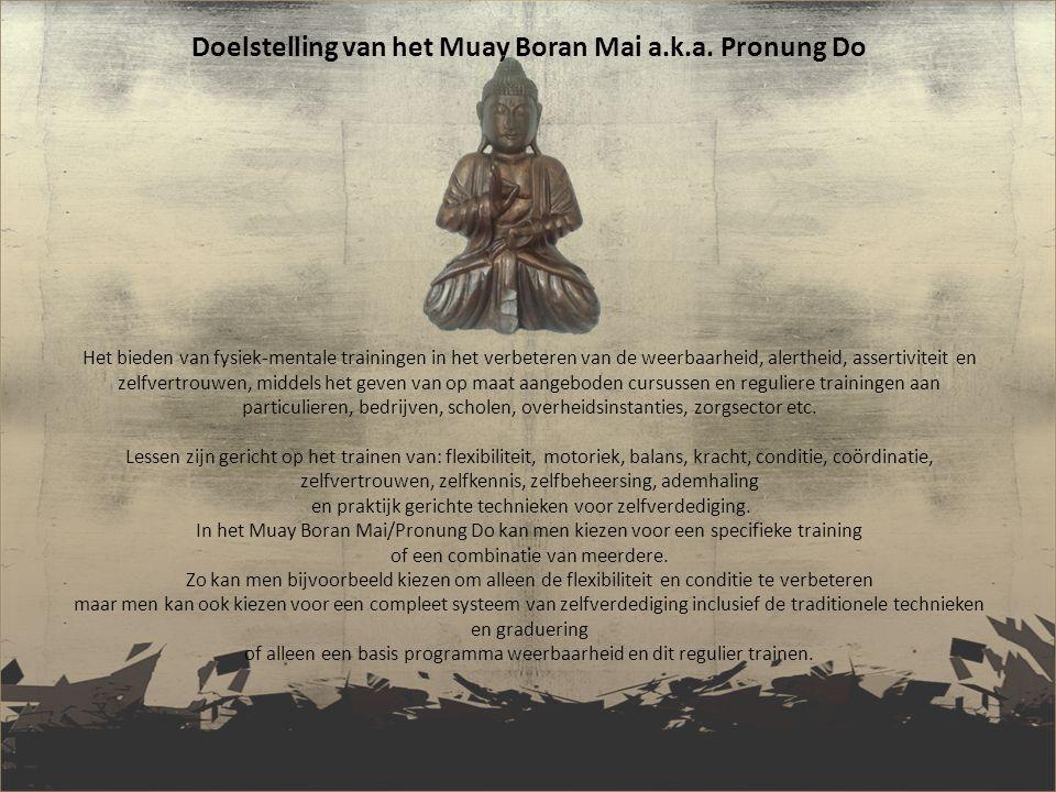 Doelstelling van het Muay Boran Mai a. k. a
