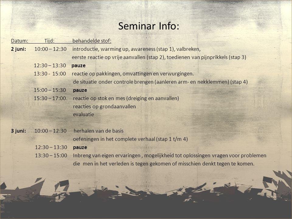 Seminar Info: