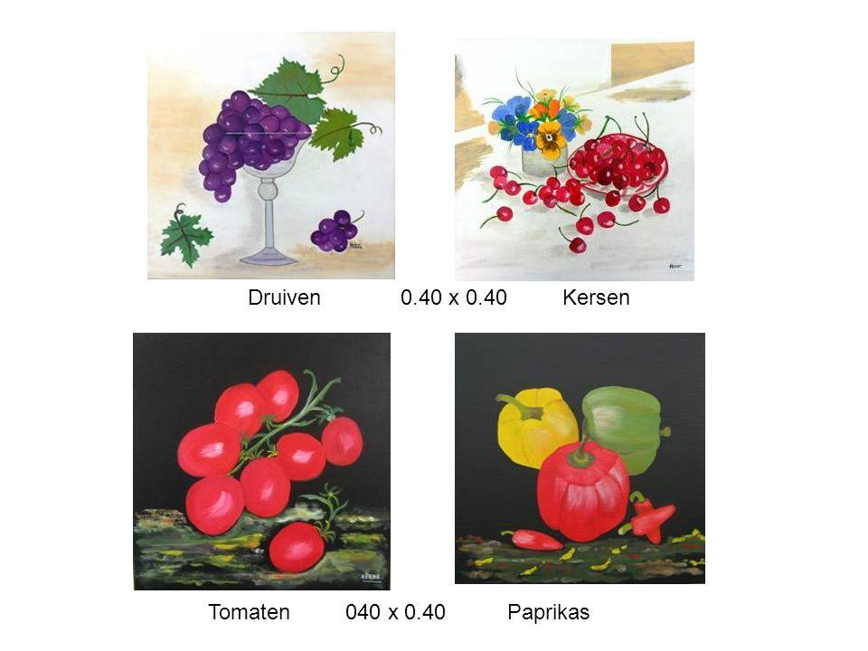 Druiven 0.40 x 0.40 Kersen Tomaten 040 x 0.40 Paprikas