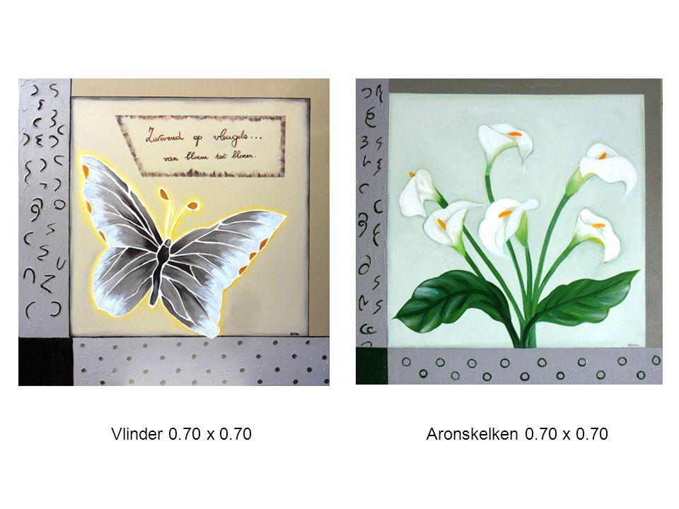 Vlinder 0.70 x 0.70 Aronskelken 0.70 x 0.70