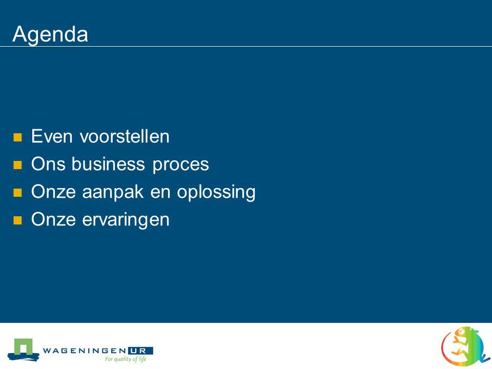 Agenda Even voorstellen Ons business proces Onze aanpak en oplossing