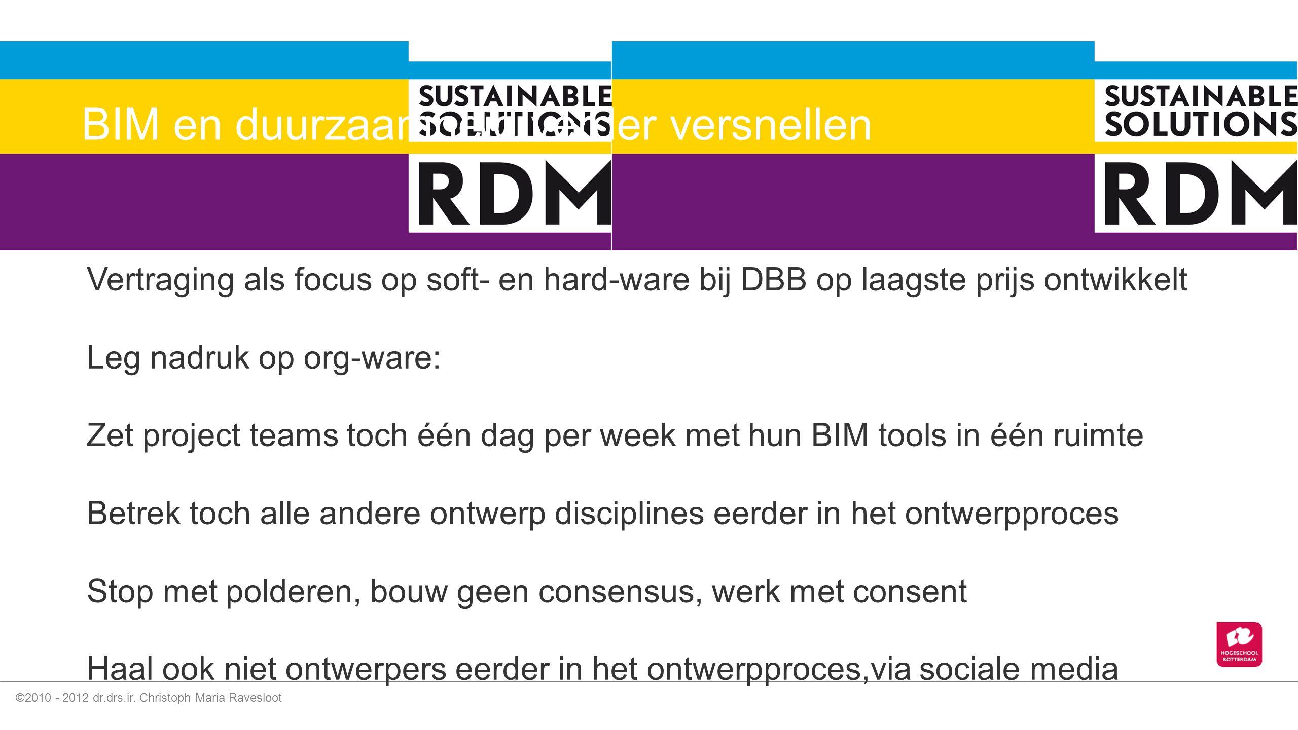 BIM en duurzaamheid verder versnellen