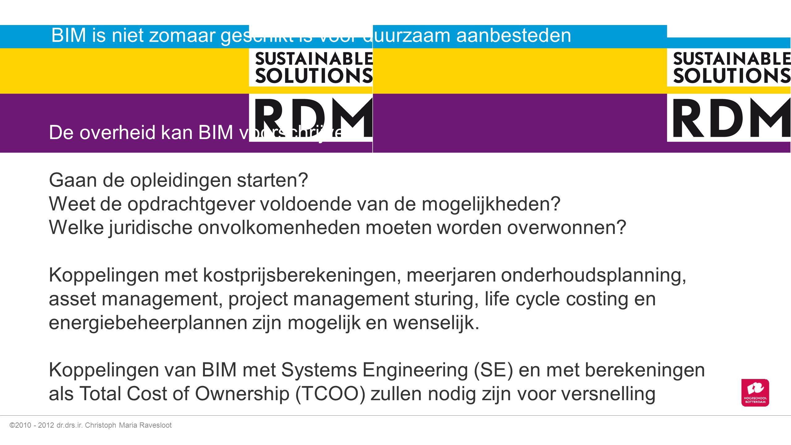 BIM is niet zomaar geschikt is voor duurzaam aanbesteden
