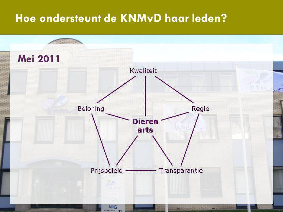 Antwoord van de KNMvD Hoe ondersteunt de KNMvD haar leden Mei 2011
