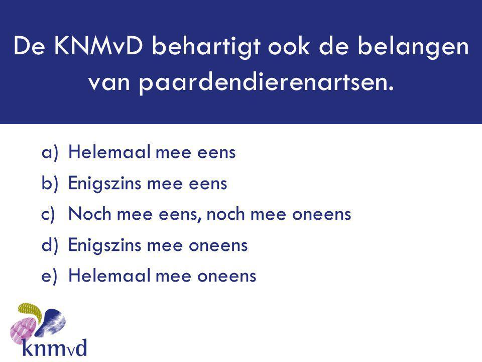 De KNMvD behartigt ook de belangen van paardendierenartsen.