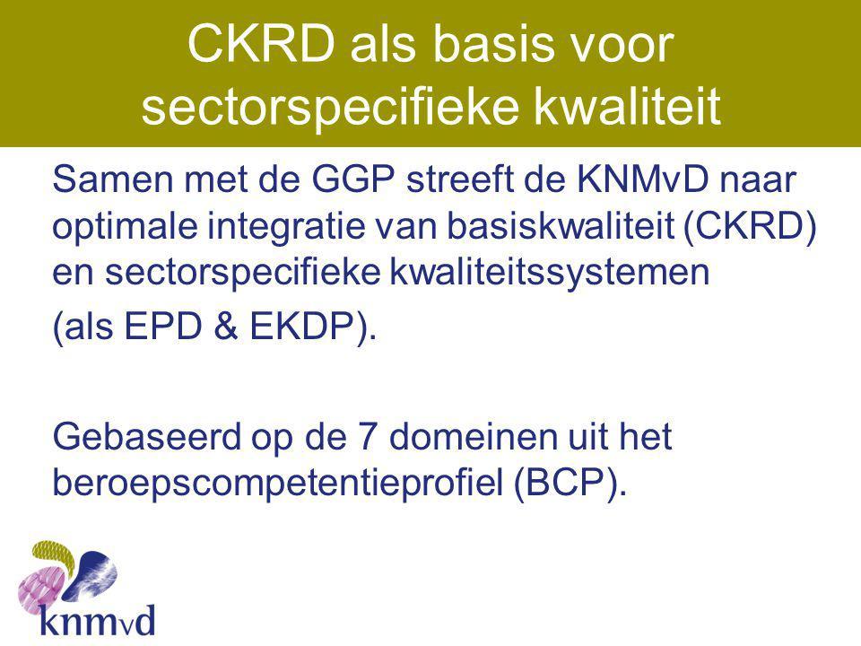 CKRD als basis voor sectorspecifieke kwaliteit